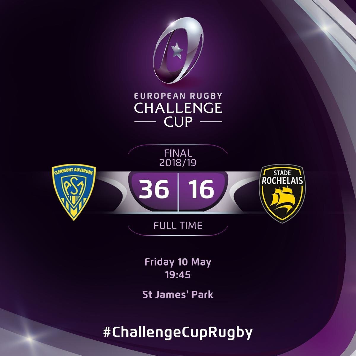 Clermont v La Rochelle full-time