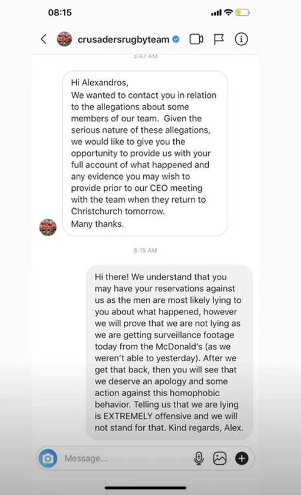Crusaders response to accuser