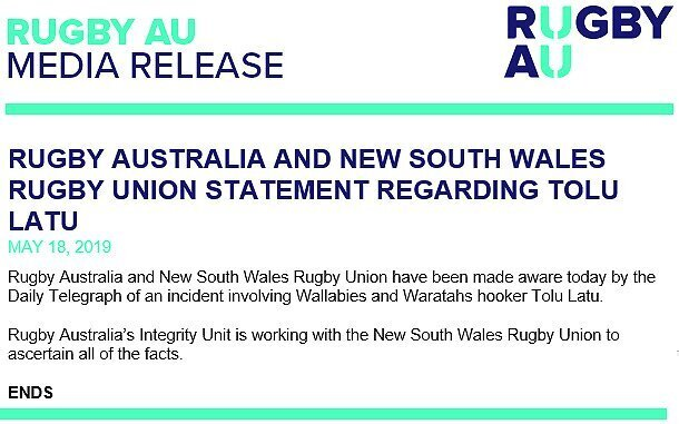 New drama as Wallaby is arrested
