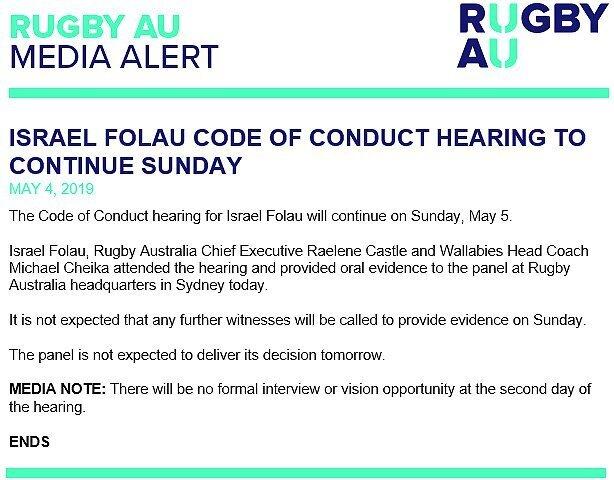 Rugby-Australia-statement-on-Folau-hearing---Saturday