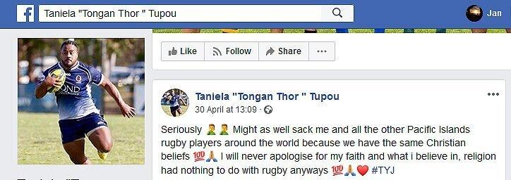 Taniela Tupou Facebook
