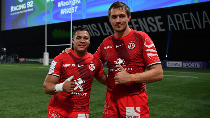 Cheslin Kolbe and Rynhardt Elstadt Toulouse 2019