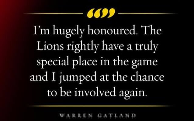 Warren Gatland quote