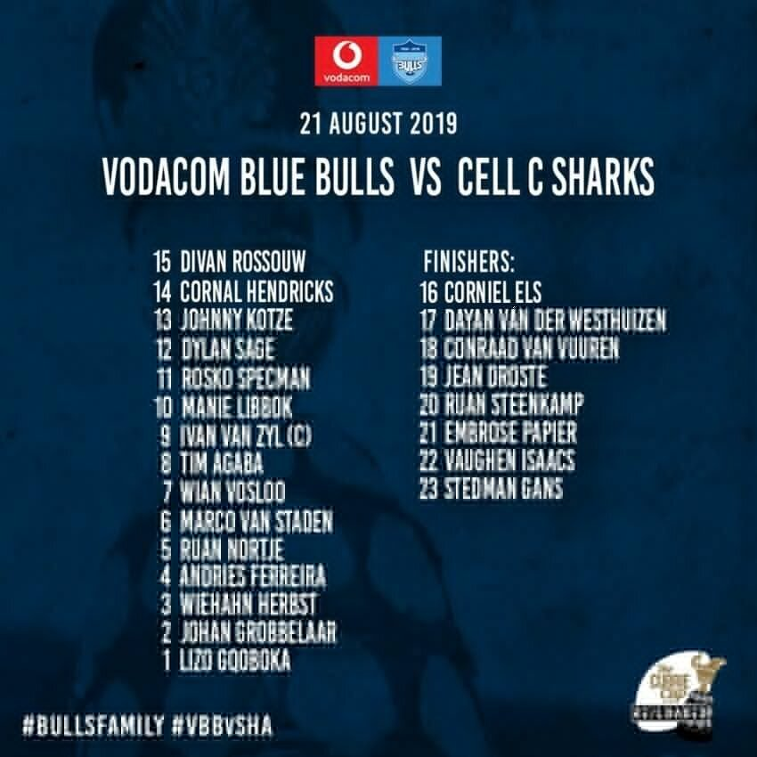 Blue Bulls versus Sharks