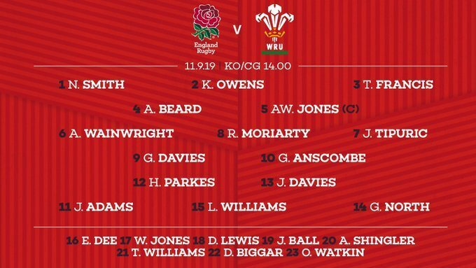 Welsh team to face England
