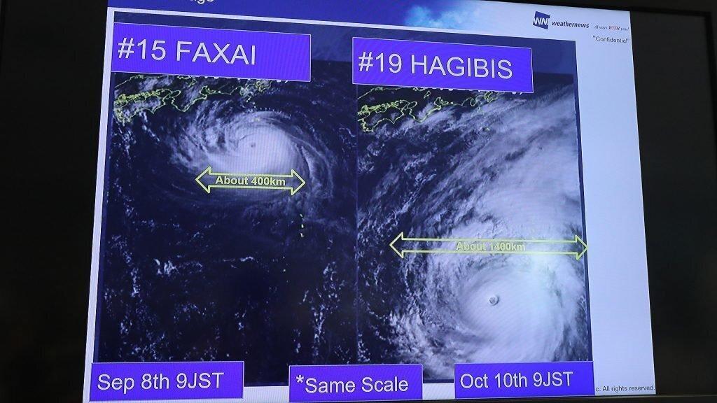 Typhoon Hagibis claims first life