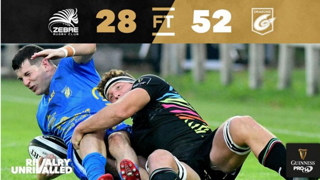 Dragons smash Zebre