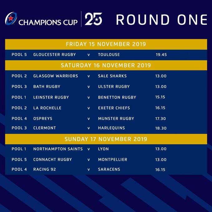 Euro Cup Round One fixtures