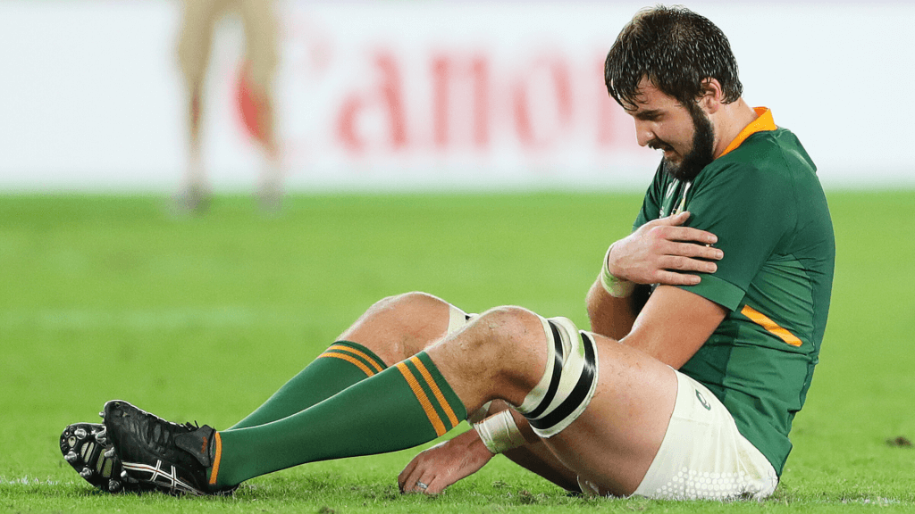 Springbok De Jager injures shoulder....again