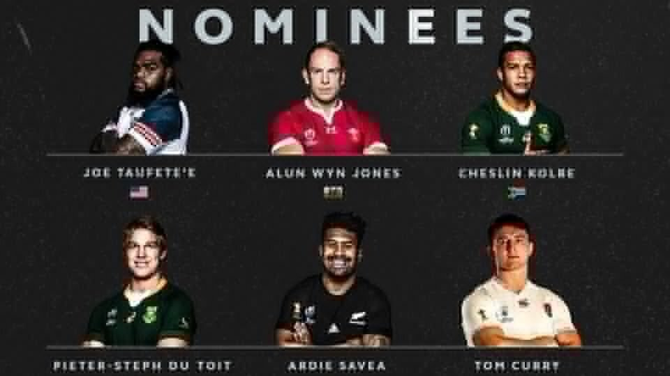Boks dominate World Rugby nominations