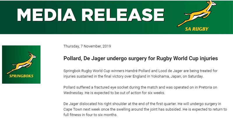 Pollard and De Jager update 2019