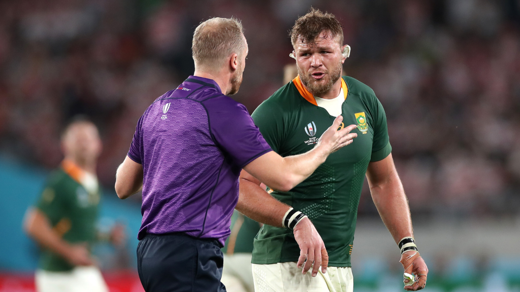 VIDEO: English referee's brilliant one-liners to Boks