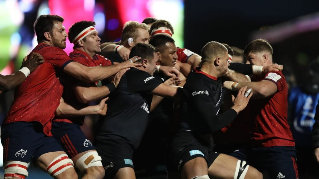 Row erupts between Saracens and Munster