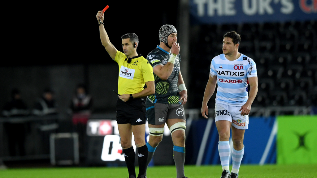 Racing hammer Ospreys after first-minute red card