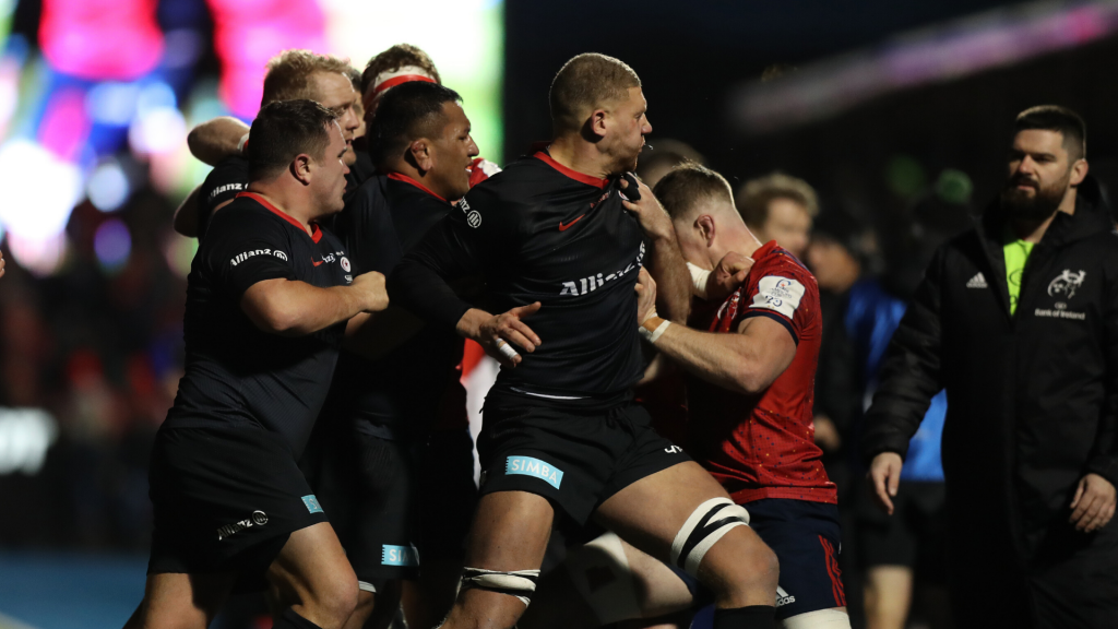Euro chiefs to probe brawl in Saracens win over Munster