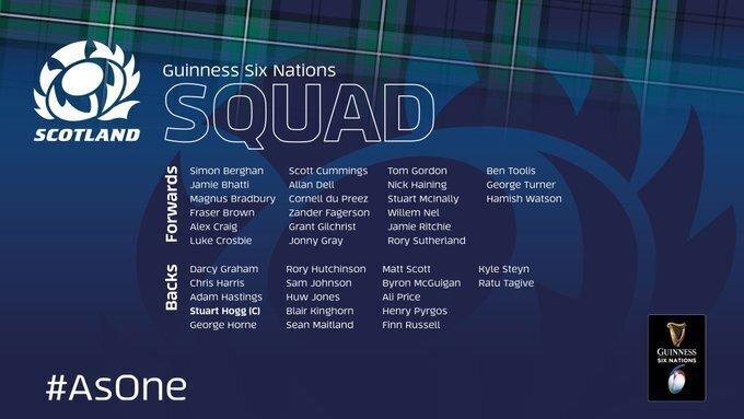 Scotland hand captain's armband to Hogg