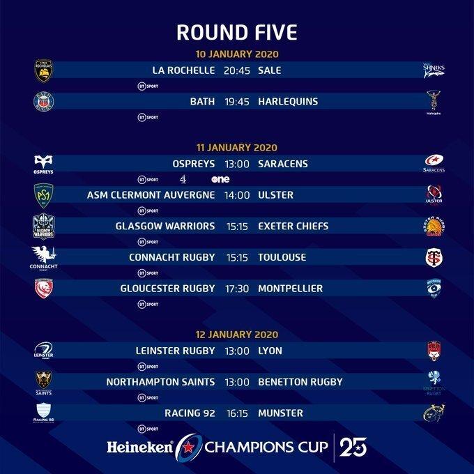 European Cup fixtures
