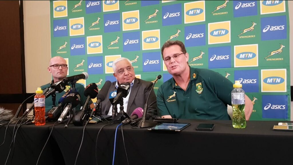 Rassie will still sit in coaches' box