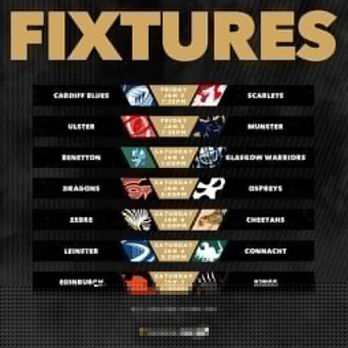 Pro14 Round 10 fixtures