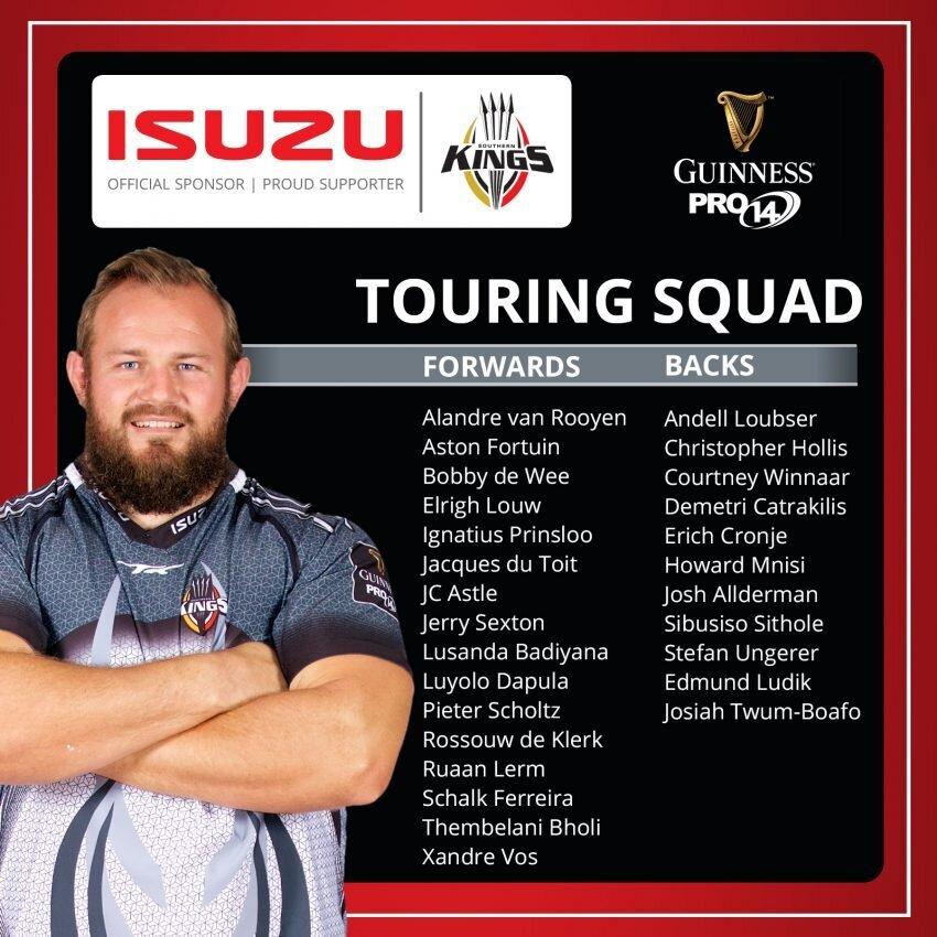 Kings name squad for gruelling Euro tour