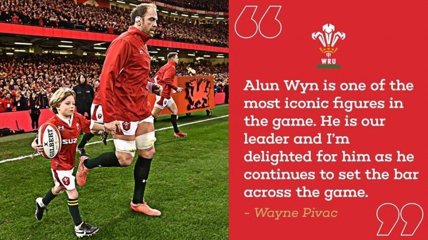 Alun Wyn Jones with quote