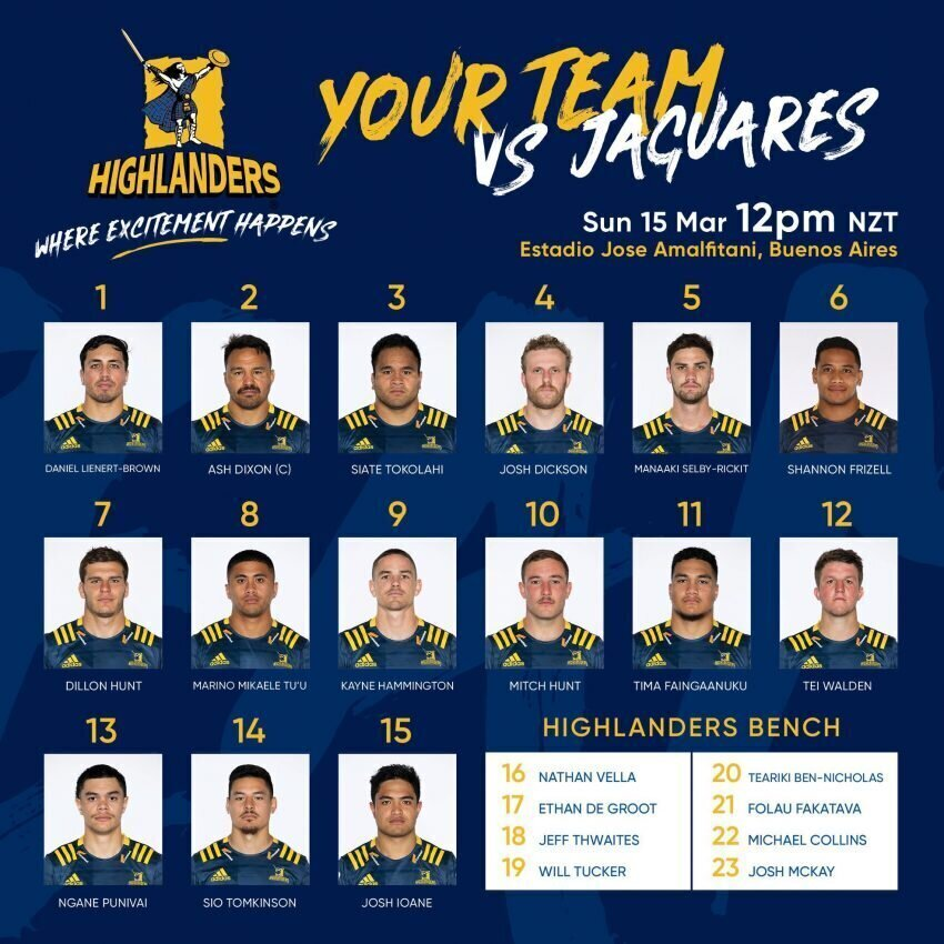 Highlanders left with 'b-team' in Argentina