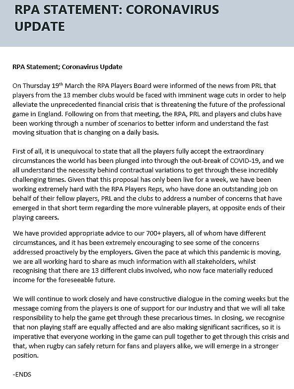 RPA statement