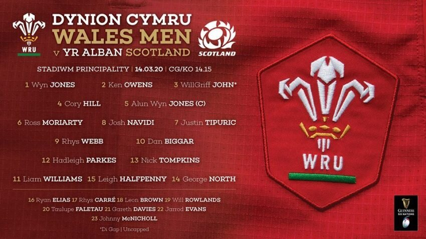 Welsh team to face Scotland