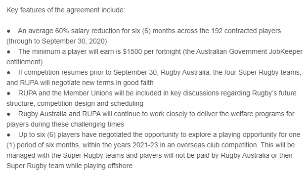 Confirmed: 'Significant' pay cut for RA players