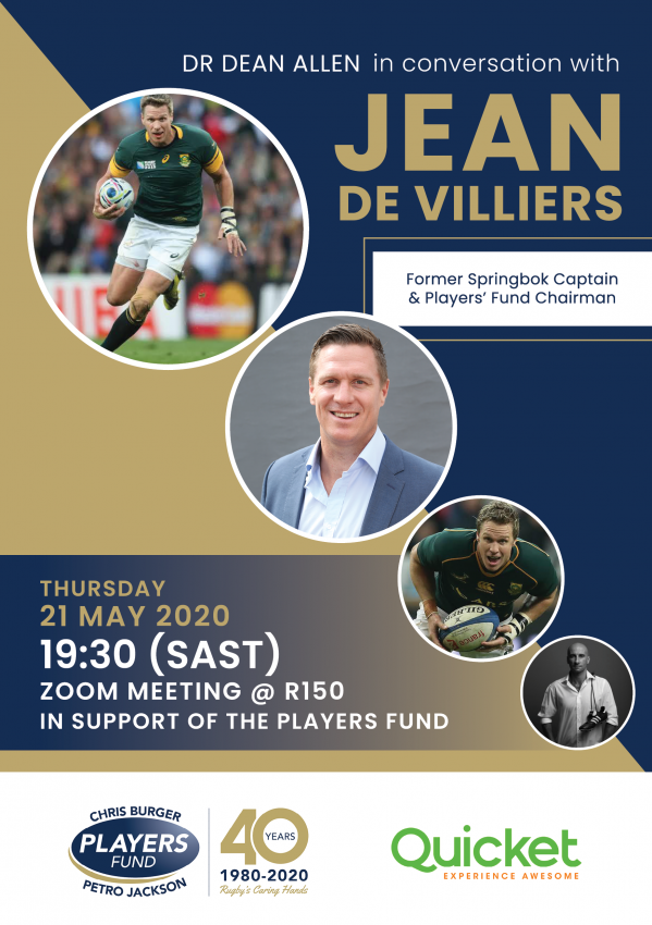 In conversation with Jean de Villiers