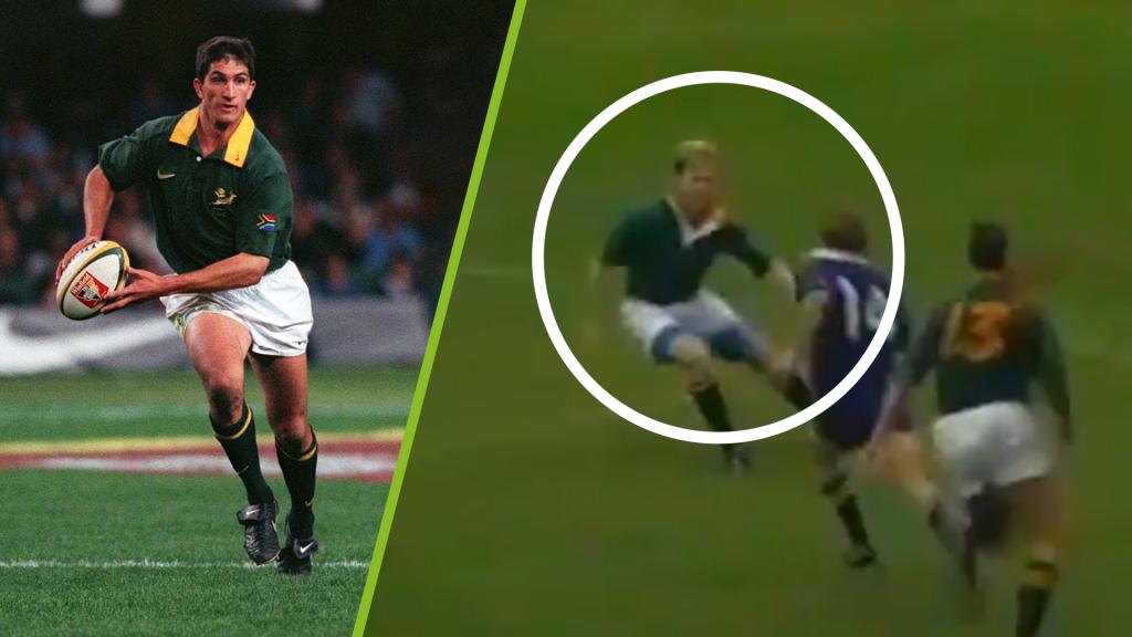 Did we just see Naas Botha make a tackle?