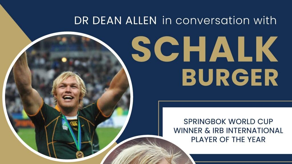 In conversation with Schalk Burger: Don't miss out!