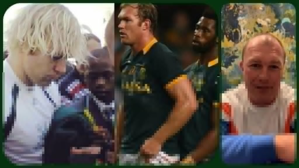 The famous photo of Siya Kolisi the autograph hunter