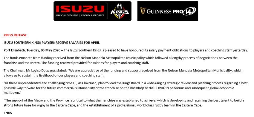 Southern Kings statement