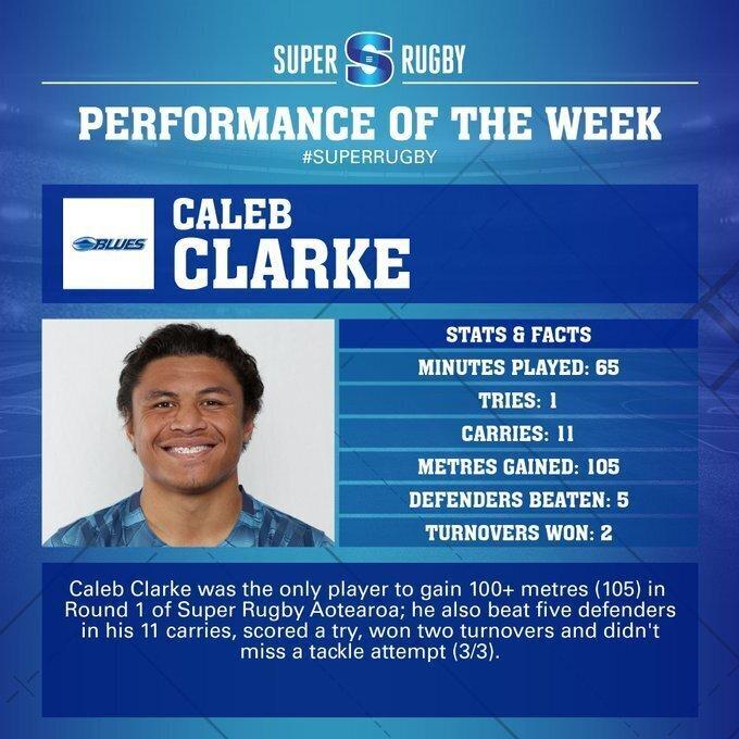 Caleb Clarke Blues performance of the week