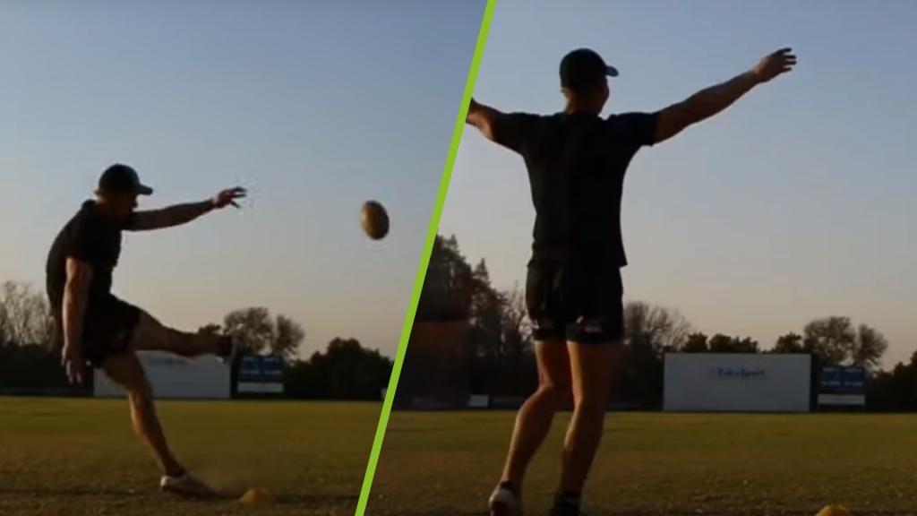 'Rocketfoot' slots a kick from 80 metres