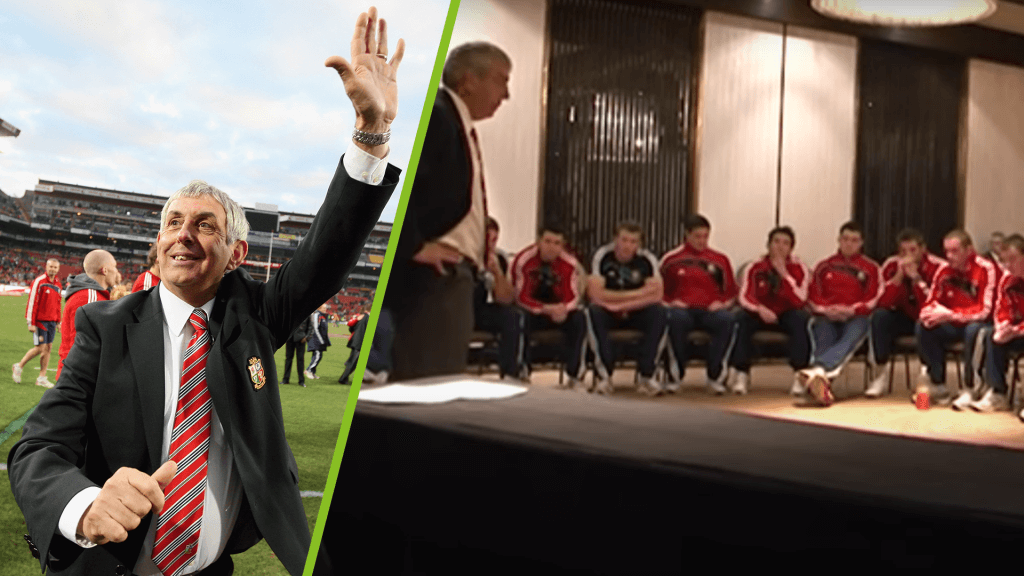 B&I coach delivers powerful pre-match talk