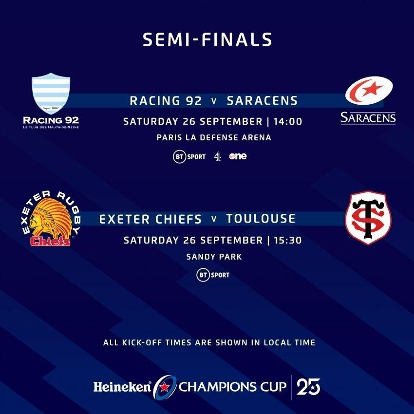 European Cup semifinals