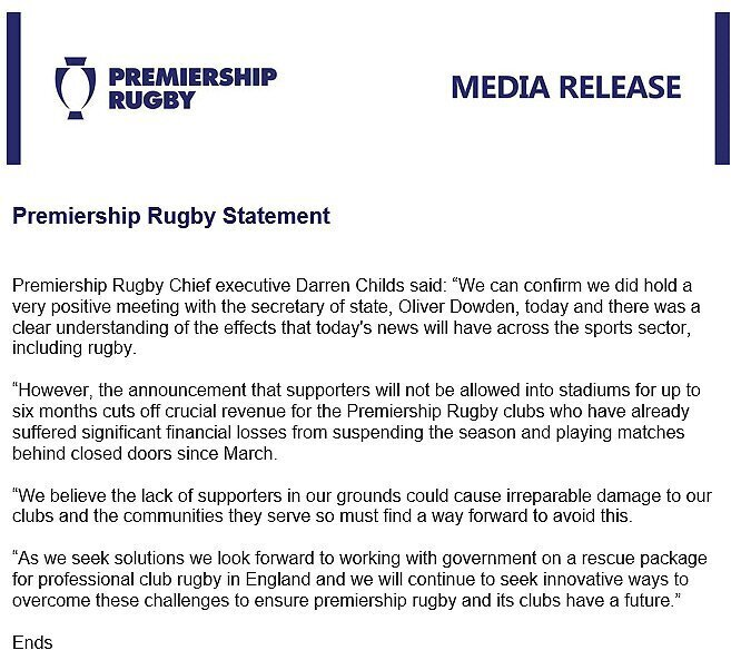 Premiership statement