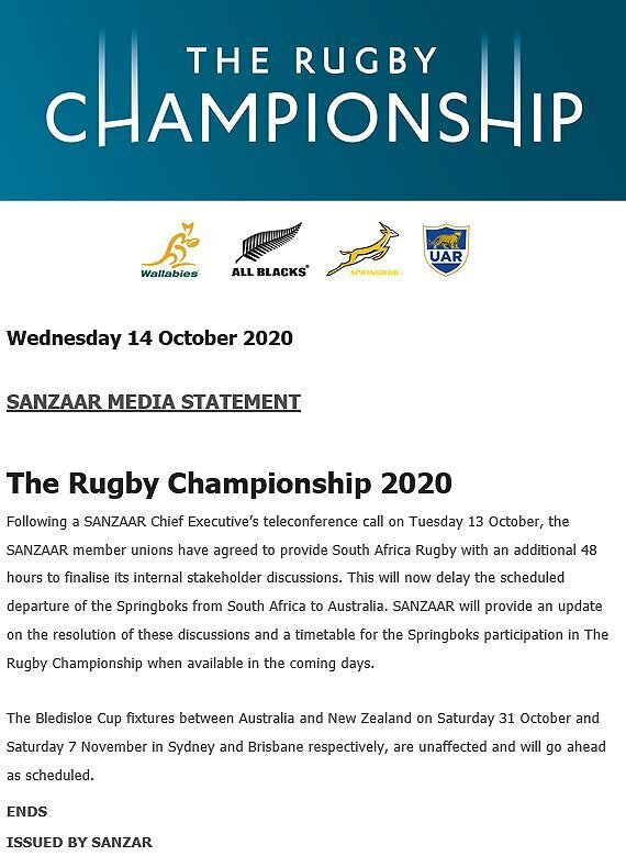 SANZAAR statement