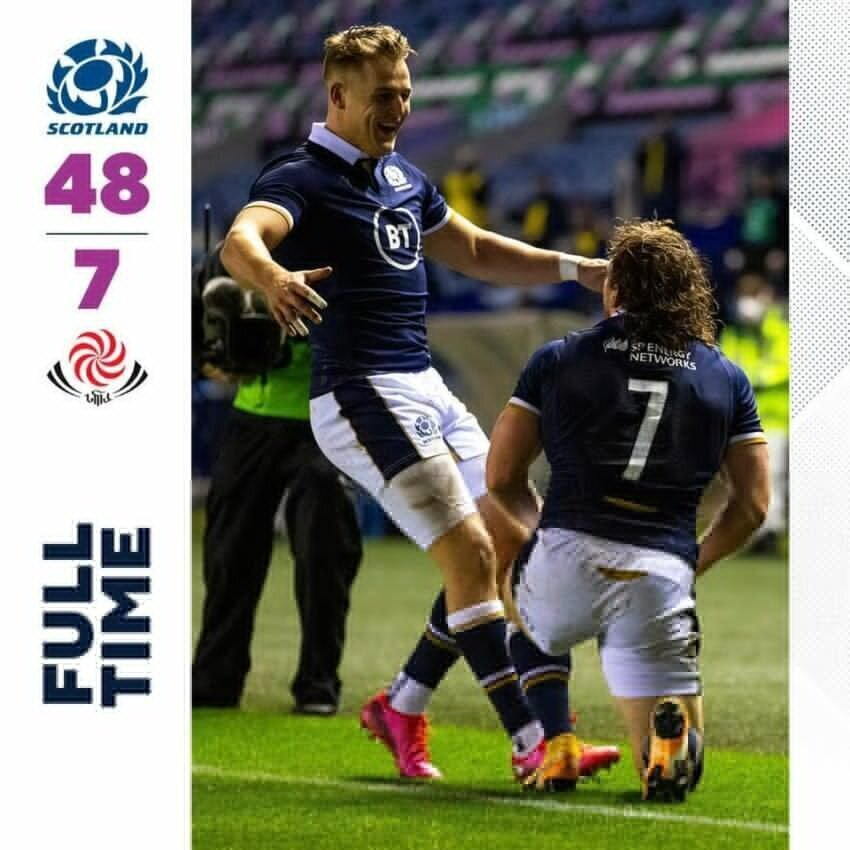 Scotland v Georgia full-time