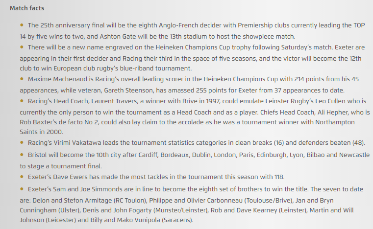 Champions Cup Final: Teams and Predictions