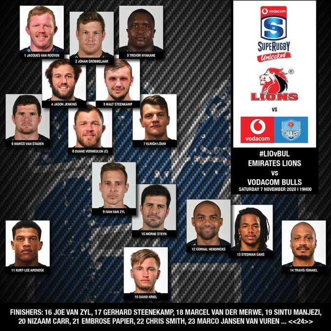 Bulls team to face Lions