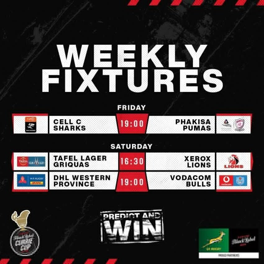 Currie Cup Round One fixtures