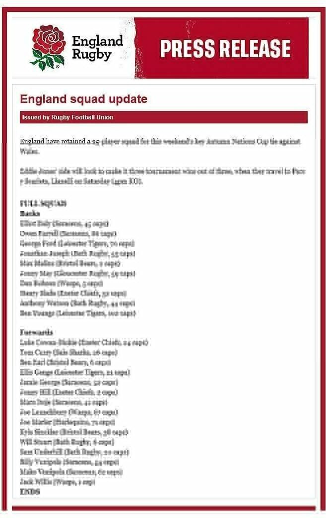England-squad-to-face-Wales