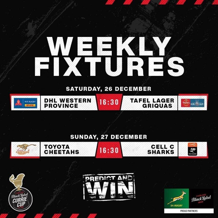 Currie Cup fixtures week five