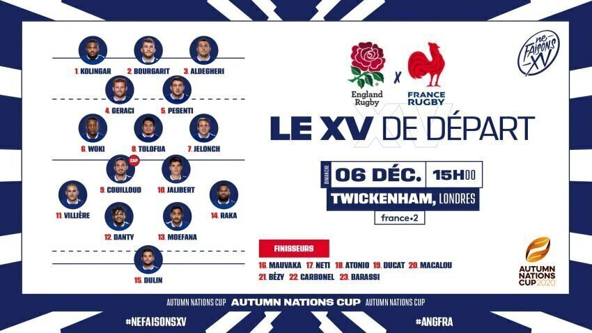 France team to face England