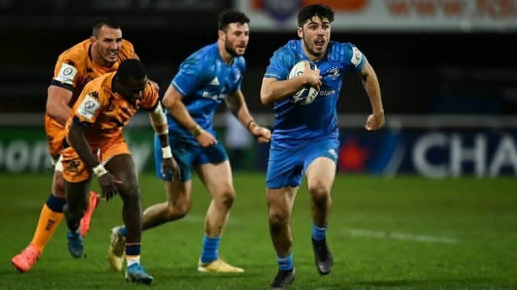 Five-try Leinster makes statement against Montpellier