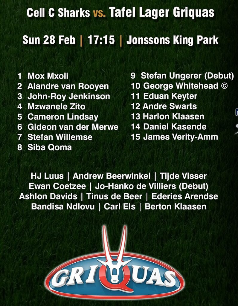 Griquas-Team-to-play-Sharks