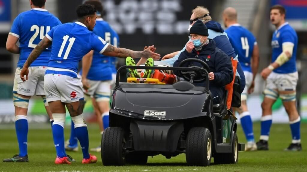Italy flank apologises for injury to England's Willis